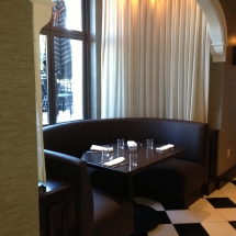 leather restaurant booth